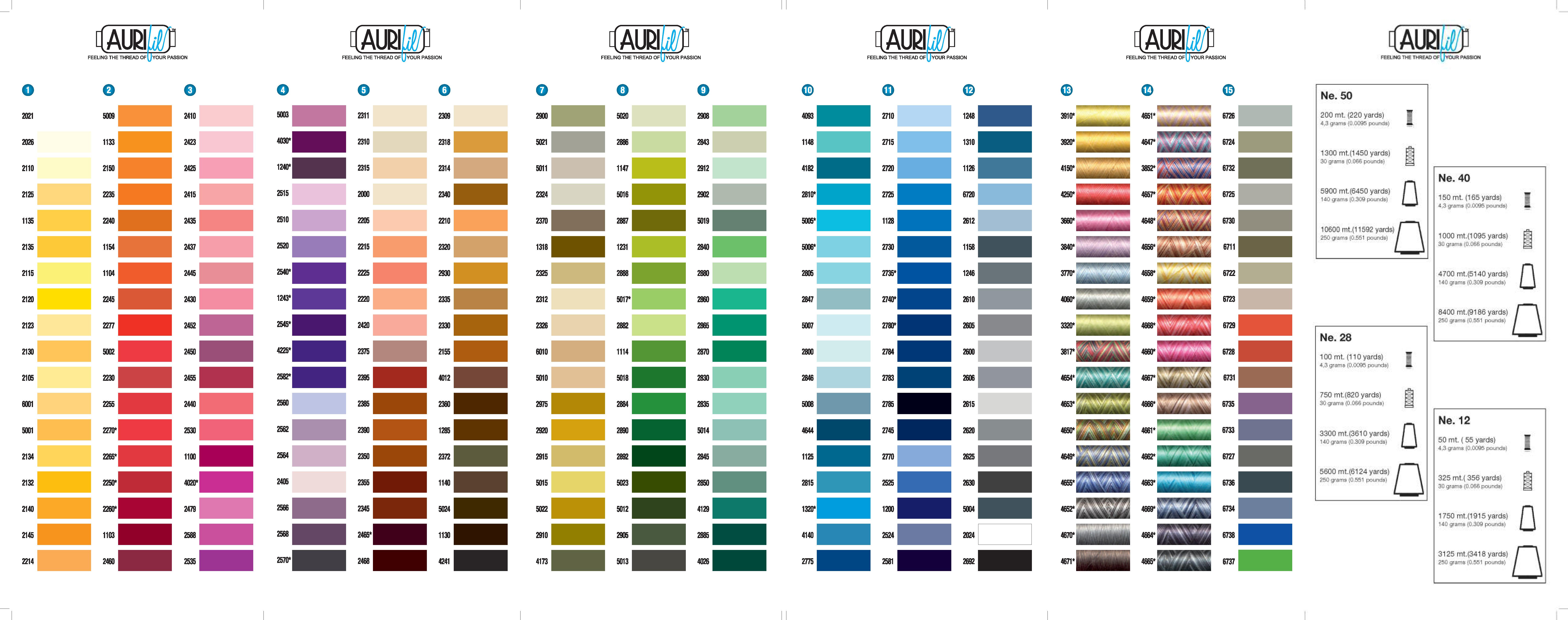 Aurifil thread featherweights works